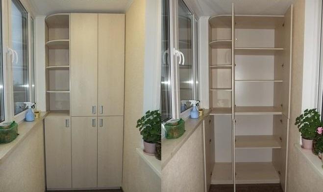 Шкаф на лоджии дизайн фото