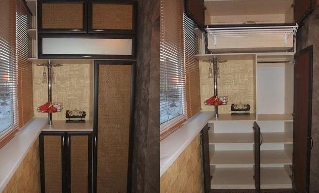 Тумба, шкаф для балкона.