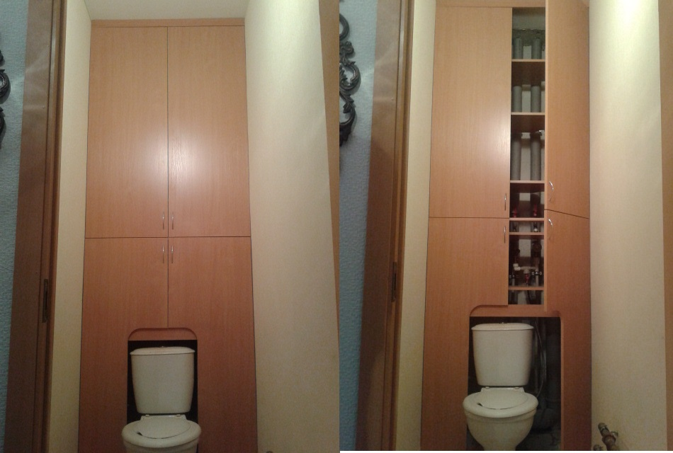 Шкафы для туалета