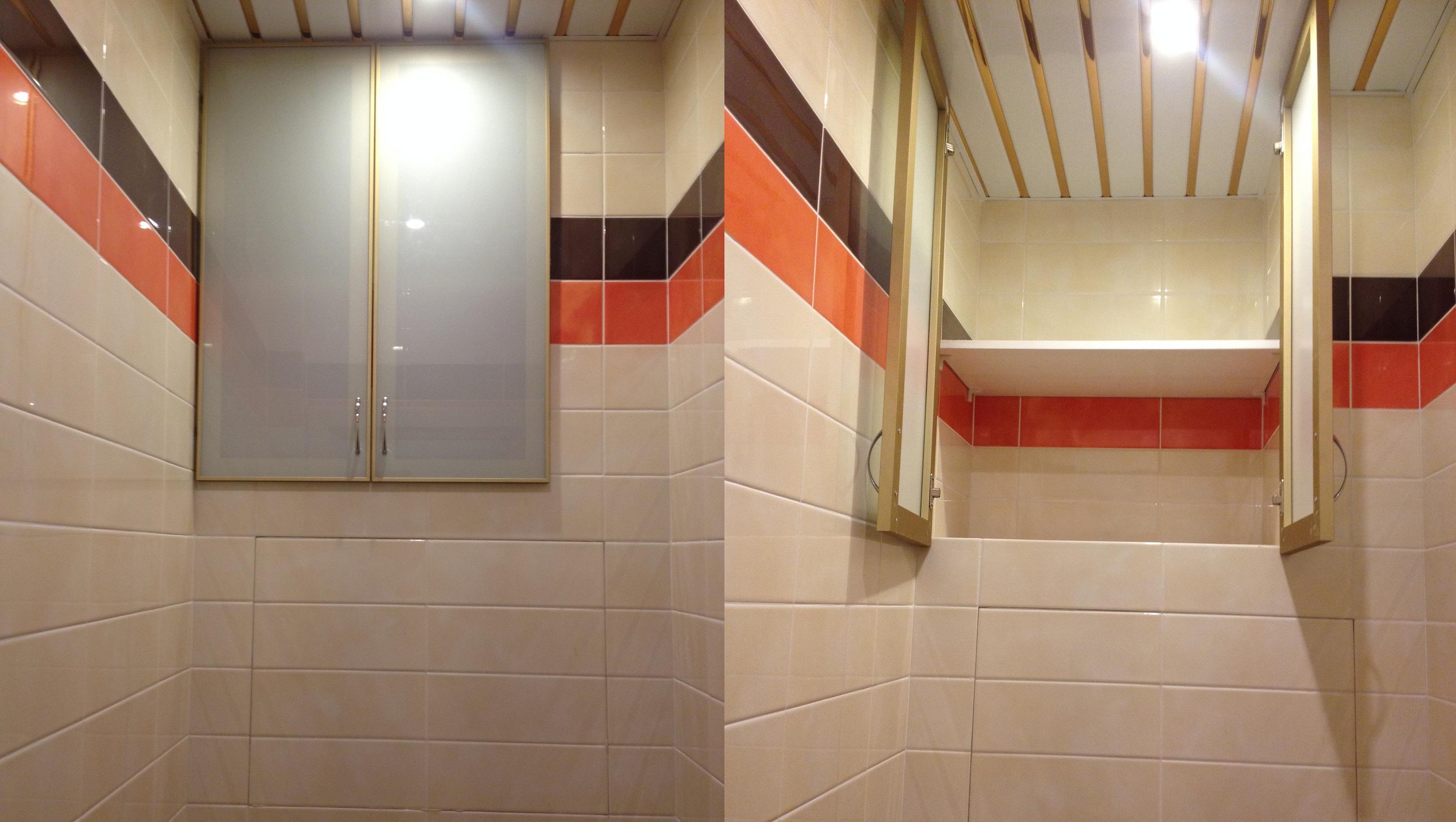 Ремонт туалета с полками