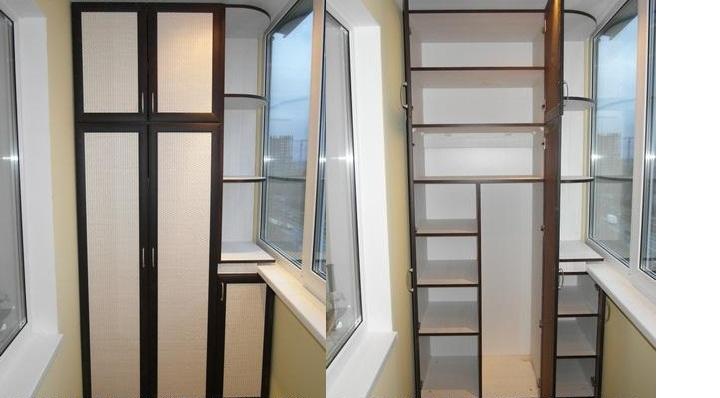Шкафы встройки на балкон картинки..